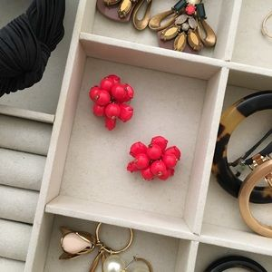 J. Crew Colorful Cluster earrings in red
